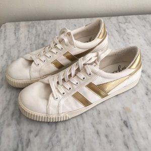 J. Crew Gola canvas tennis shoes white sneakers